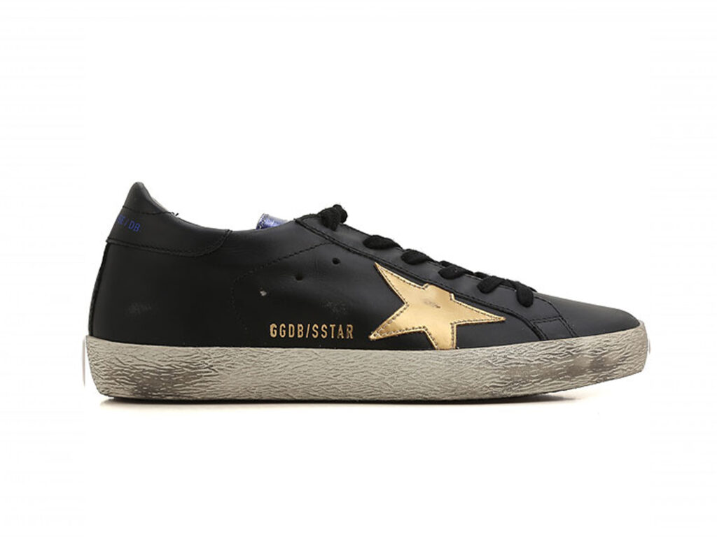 GOLDEN GOOSE  Sneaker Superstar nero oro